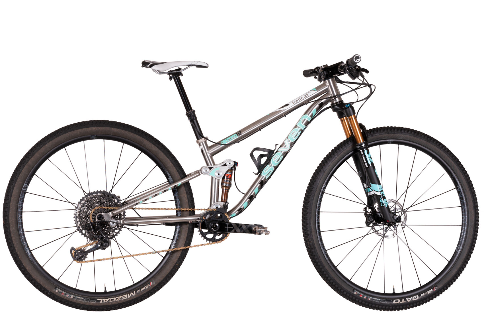 7a331c4adbf KellCat SL. double-butted titanium dual suspension race bike