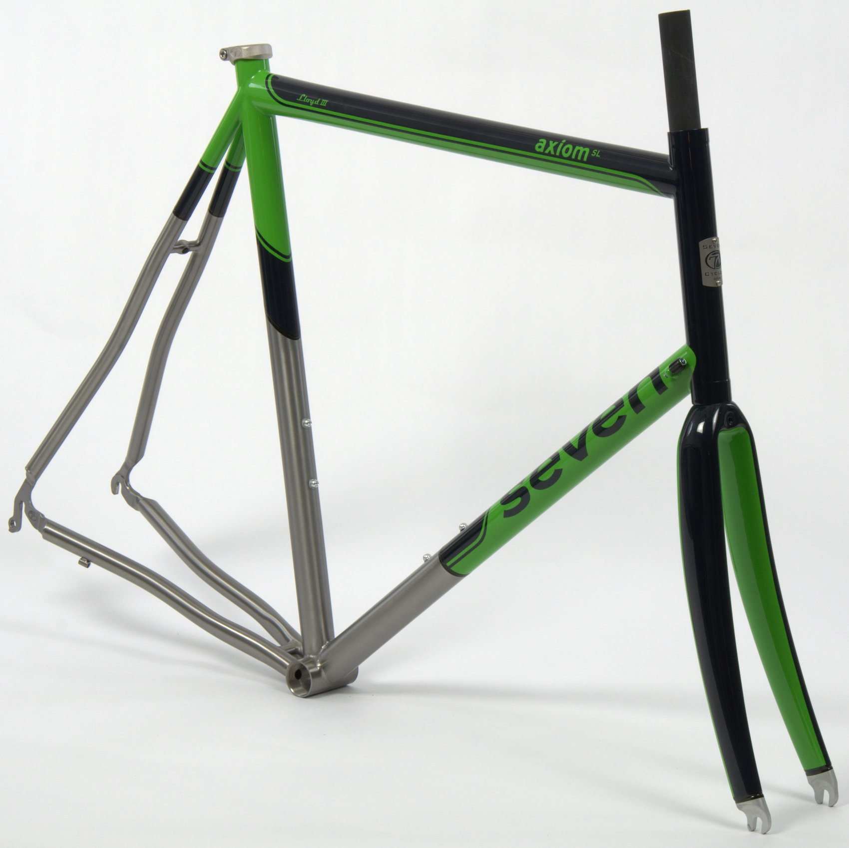 gloss black and custom green (available at an additional cost)